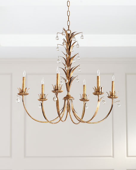 Jamie Young 6-Light Drop Leaf Chandelier