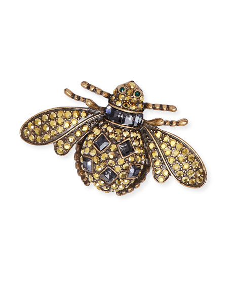 Jeweled Tiger's Eye Insect Clip Set