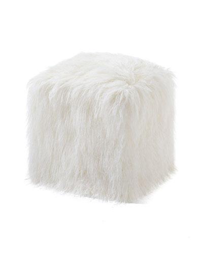 Faux Fur Ottoman Pouf