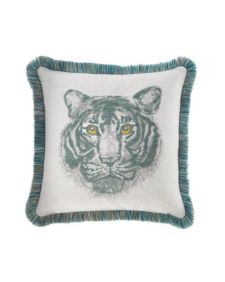 Bengal Mist Fringed Indoor/Outdoor Pillow