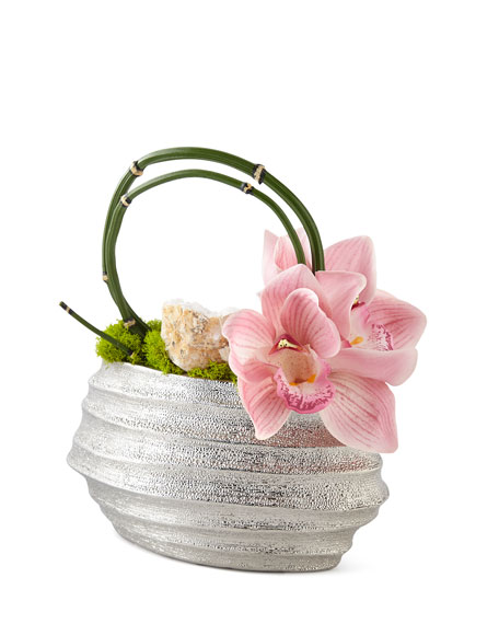 Petite Orchids in Wave Container