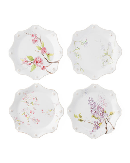 Juliska Berry & Thread Floral Sketch Dessert Plates,
