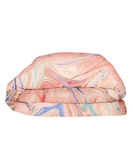 Marble Magic Linen Duvet Cover - King