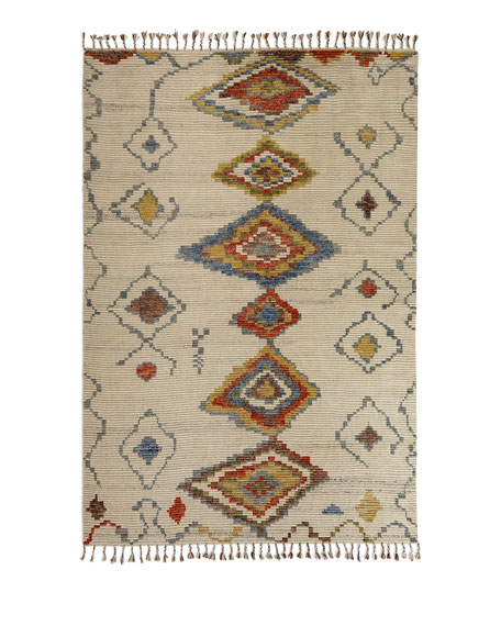 Nahla Hand-Knotted Rug, 5' x 8'
