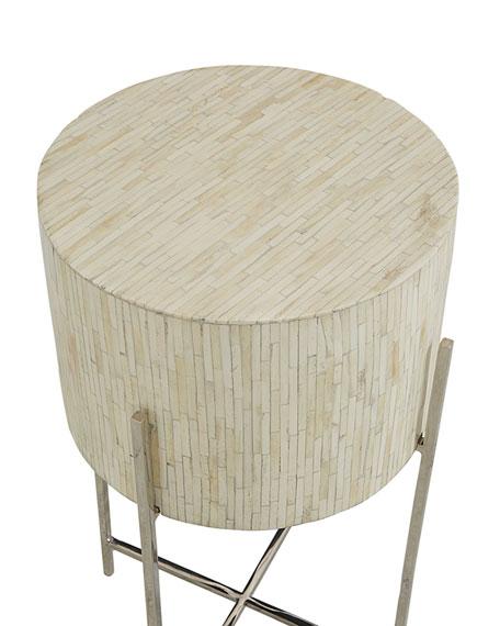 Bone Drum Accent Table