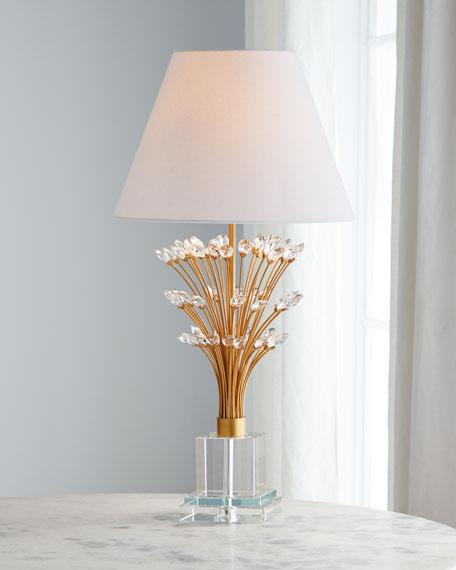 Crystal Spray Table Lamp