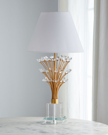 Crystal Spray Table Lamp