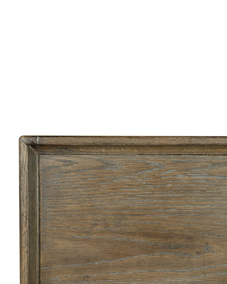 Rustic Patina Gallery Framed Coffee Table