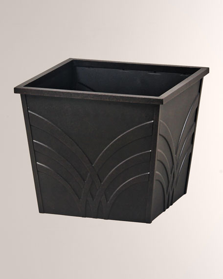 "Palm Outdoor 18"" Small Square Planter Box"