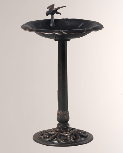 Outdoor Lotus Bird Bath
