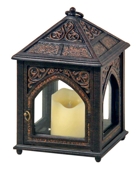 "Outdoor Hurricane Lamp - 11.8"" High"
