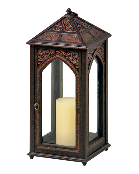 "Outdoor Hurricane Lamp - 17.7"" High"