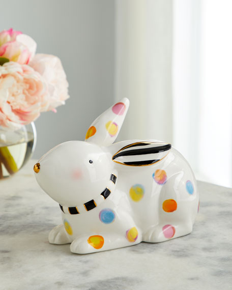 MacKenzie-Childs Dotty Bunny Decor