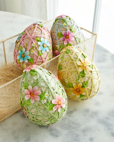 Trellis Eggs  Set of 4