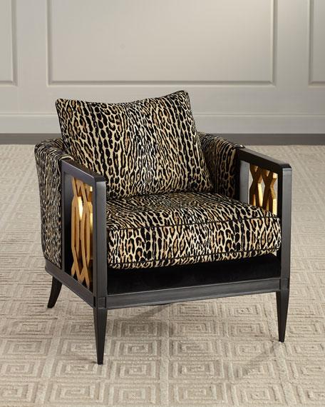 Lucio Leopard Club Chair