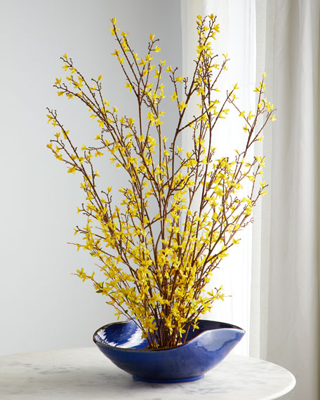 John-Richard Collection Forsythia Forest Arrangement
