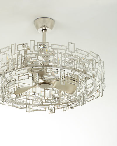 8-Light Crystal Trim Fandelier