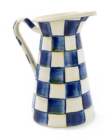 MacKenzie-Childs Royal Check Medium Practical Pitcher
