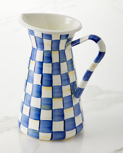 Royal Check Practical Pitcher