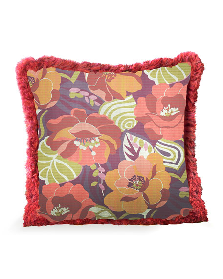 MacKenzie-Childs Breezy Poppy Outdoor Accent Pillow