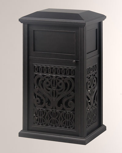 Tuscany Indoor/Outdoor Trash Receptacle With Liner