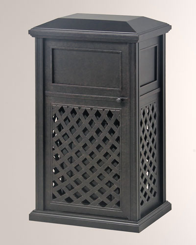 Newport Indoor/Outdoor Trash Receptacle With Liner