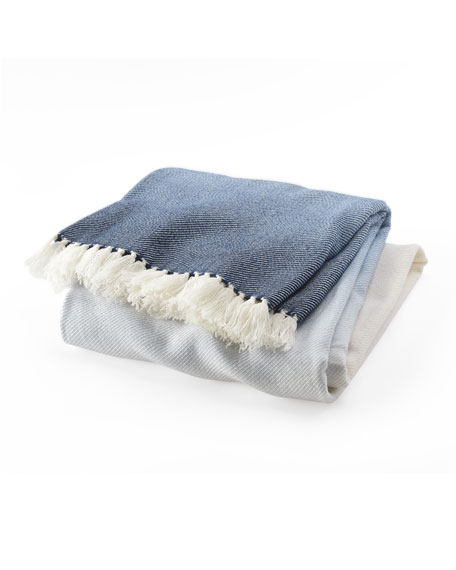 Palermo Ombre Fringe Throw Blanket