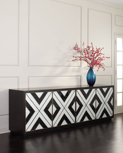 Grand Noir Entertainment Console