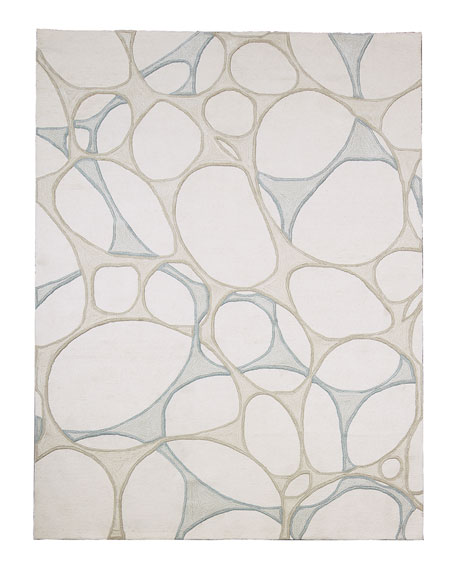 Abstract Hand-Tufted Rug, 6' x 9'