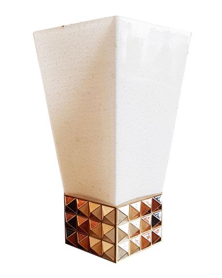 Jay Strongwater Topaz Pyramid Vase