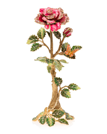 Jay Strongwater Rose Objet