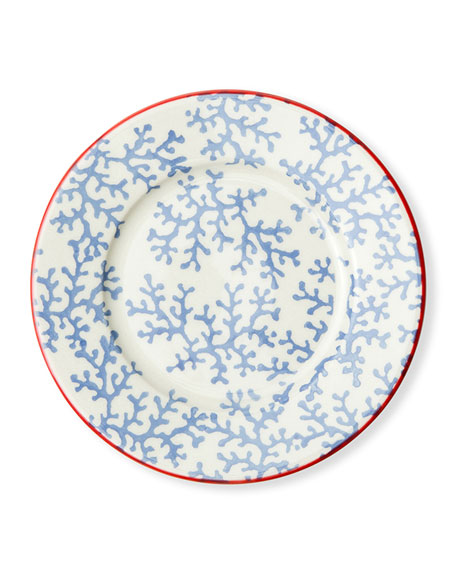 Sienna Coral Bread/Cupcake Plates, Set of 4
