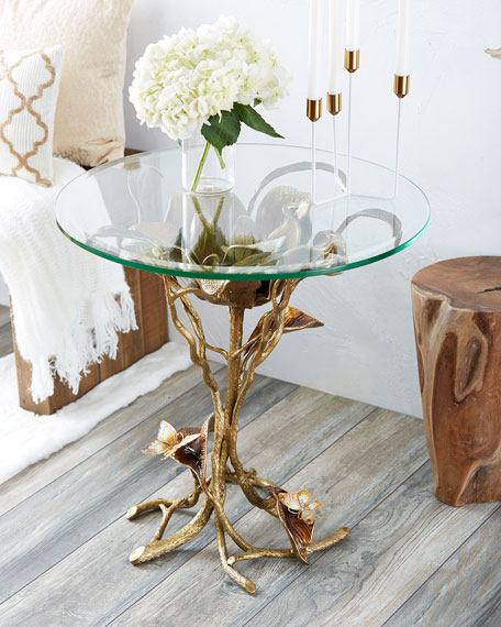 Jay Strongwater Marjorie Magnolia Table