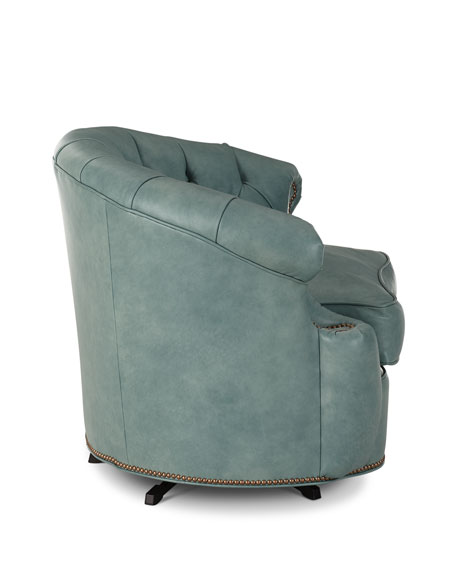 Tahoe Leather Swivel Chair