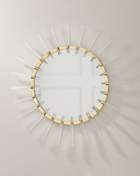 John-Richard Collection Cloe Mirror in Brass