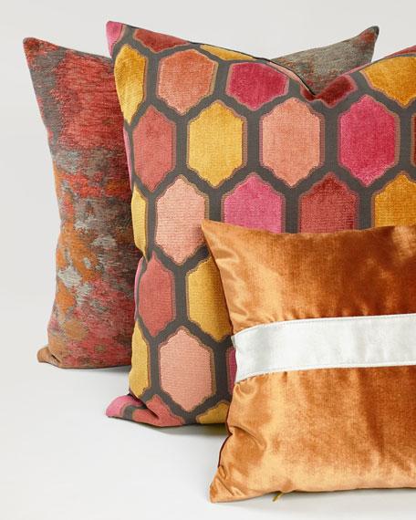 Orange Iridescence Band Lumbar Pillow