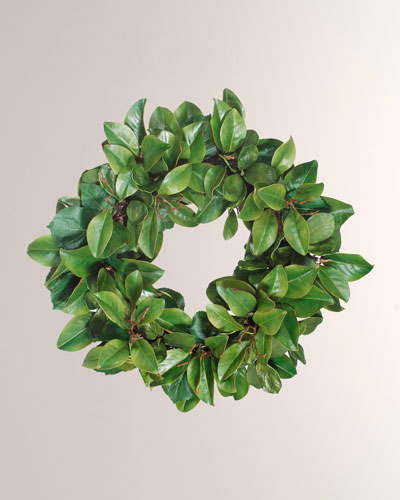 Magnolia Leaf Twig Wreath