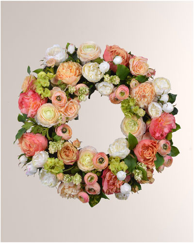 Rose Ranunculus Wreath