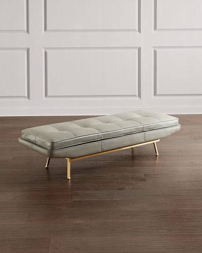 Klaus Leather Bench