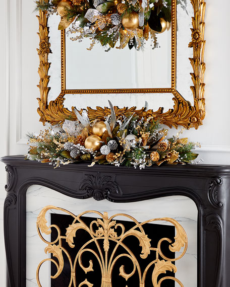 "Gold Christmas 46"" Mantle Piece"