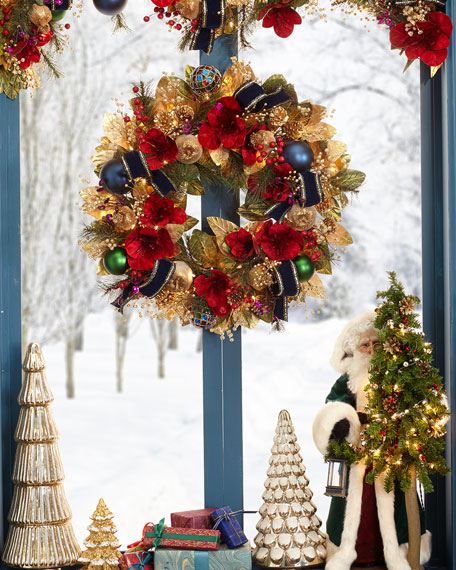 "Spiritual Christmas 28"" Prelit Wreath"