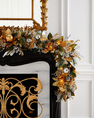 Gold Christmas 6' Prelit Garland