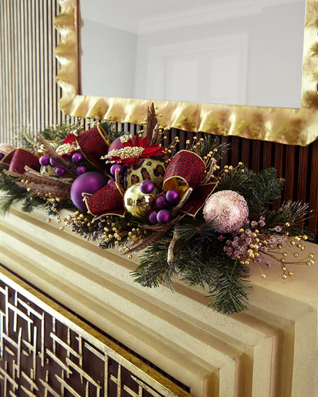 """Burgundy And Plum 46"""" Mantle Piece"""