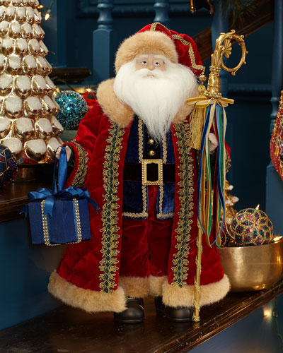 20 Blue & Red Santa w/ Decorative Christmas Gift Box