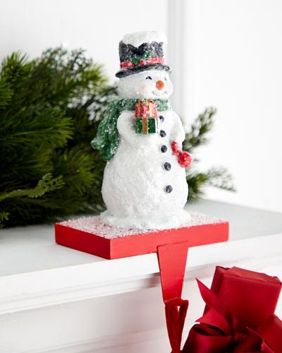 9 Resin Snowman Stocking Holder