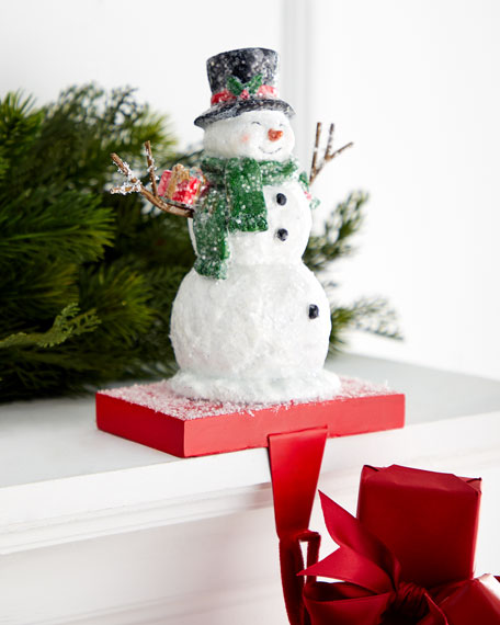 """9"""" Arms-Out Snowman Stocking Holder"""
