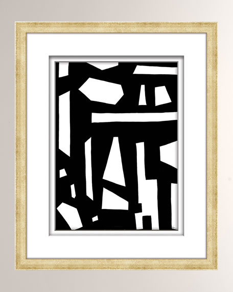 Black/White Abstract Art - 1