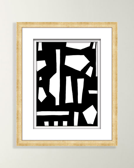 Black/White Abstract Art - 5