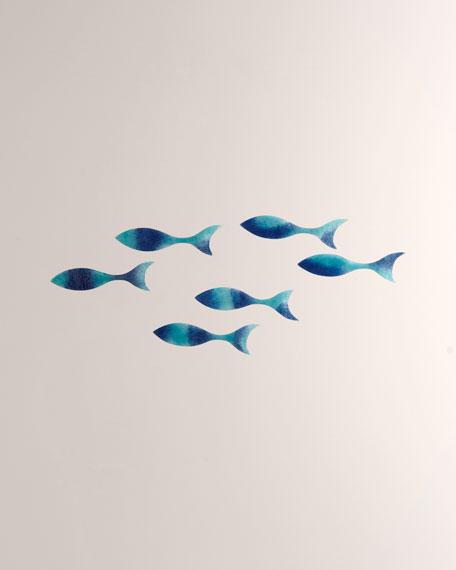 Wall Fish Decor, Set of 6
