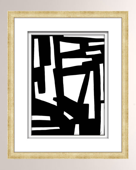 Black/White Abstract Art - 4